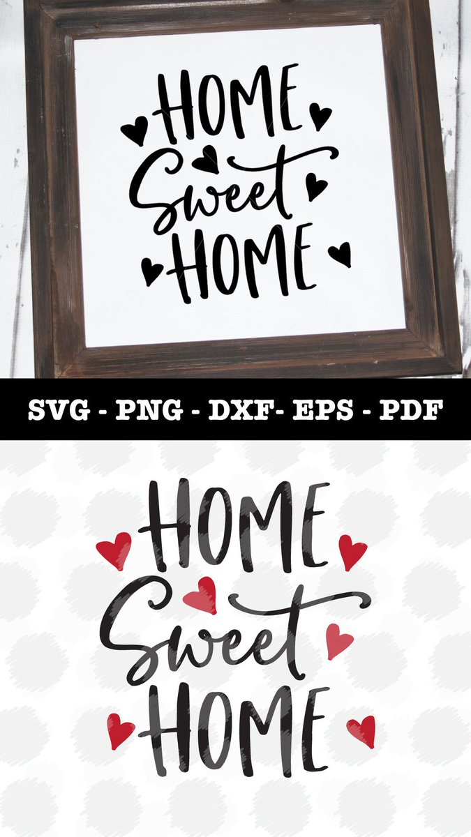 Veryblessed Creative On Twitter Home Sweet Home Svg File