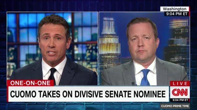 WATCH: Chris Cuomo confronts GOP Senate candidate over attacks on father: He was '10 times the man you'll ever be!' https://t.co/PfPJc4J4bu