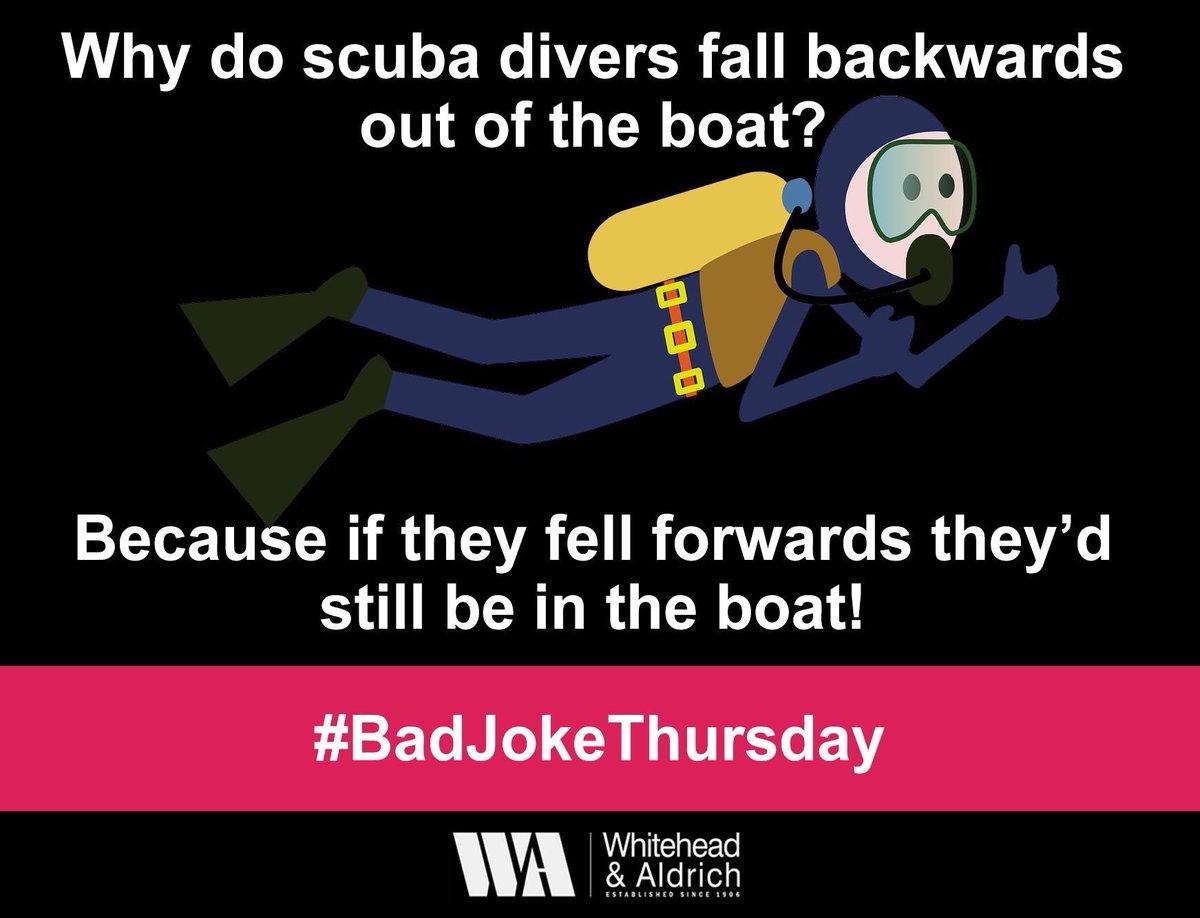 why scuba divers fall backwards
