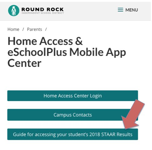 Round Rock Isd On Twitter Access Your Student S Staar Results Through Home Center Find Instructions Here Https T Co Ff4cwaohz4