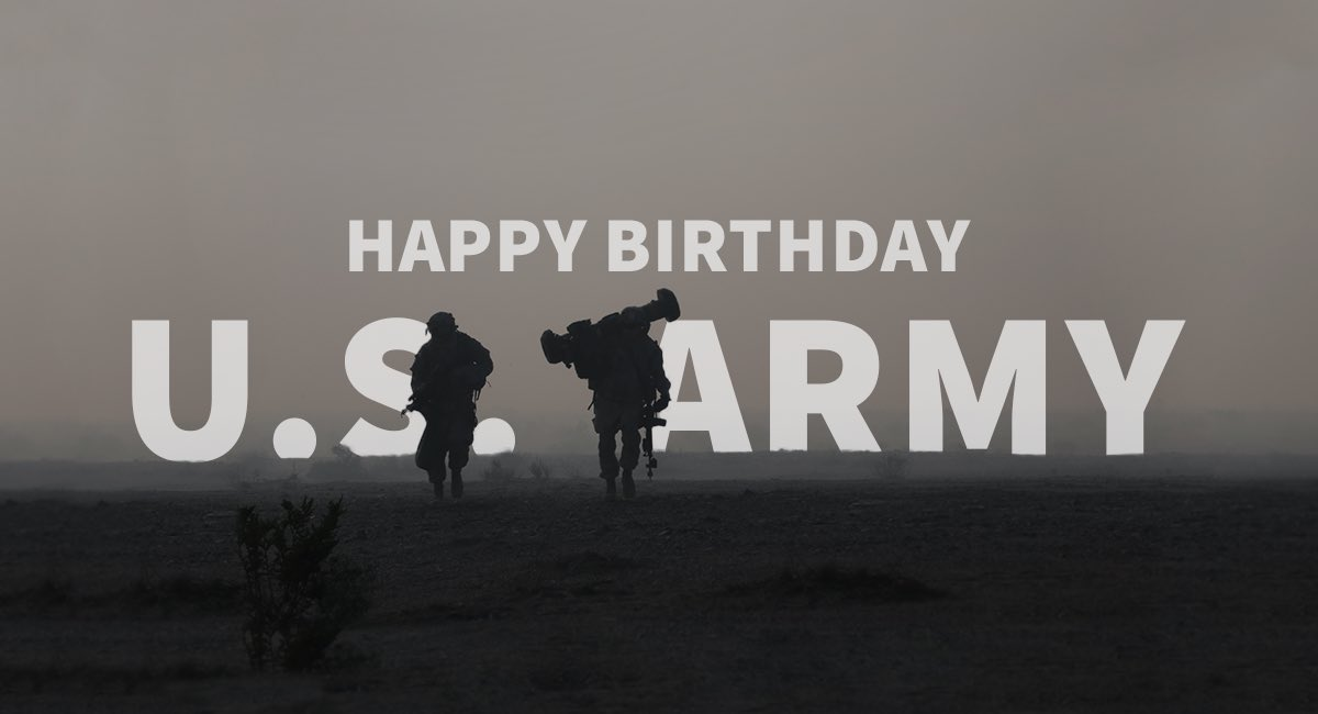 Happy Birthday, @USArmy! Celebrating 243 years that the Army has kept America safe. ���� https://t.co/q5a1zpKaD3