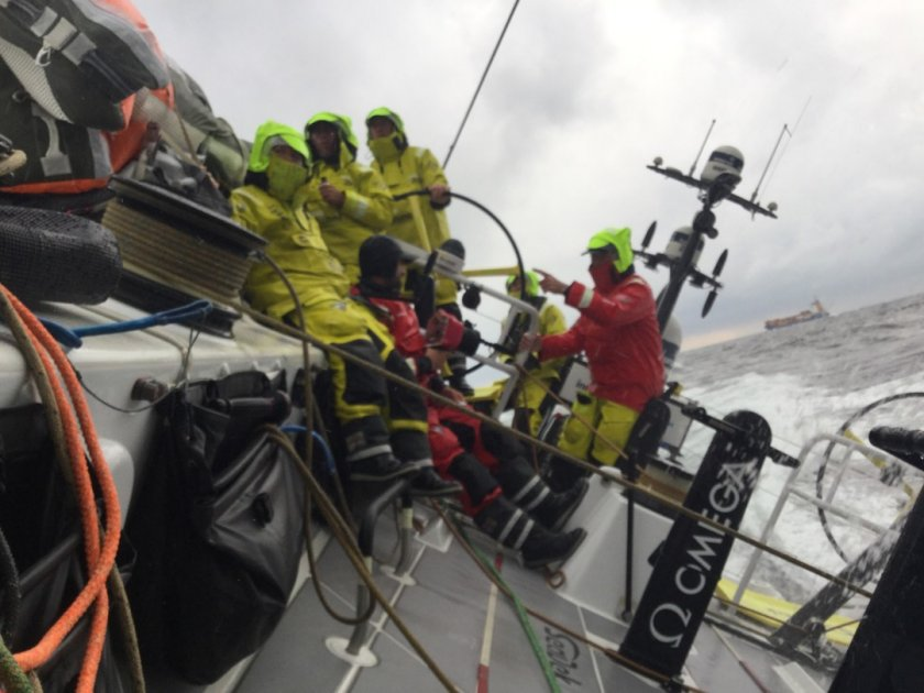 Nail biting finish as we send it into Gothenburg with Mapfre hot on our tail. #arewenearlythereyet @brunelsailing