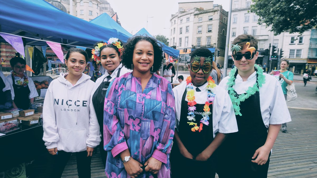 6ea31d387ae Today s  Bristolconnect highlights   melon   feta salad from Cotham Skl  food traders and meeting the voice and style icon  SheilaDillon   MarketBristol ...
