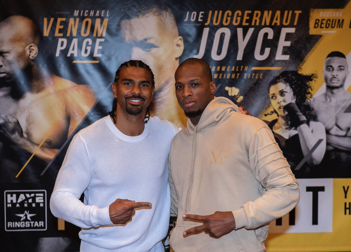 When boxing and MMA unite. @mrdavidhaye and @Michaelpage247 are both men who do it their own way. That continues on Friday. 9pm @davechannel 🇬🇧 and @showtimeboxing in 🇺🇸
