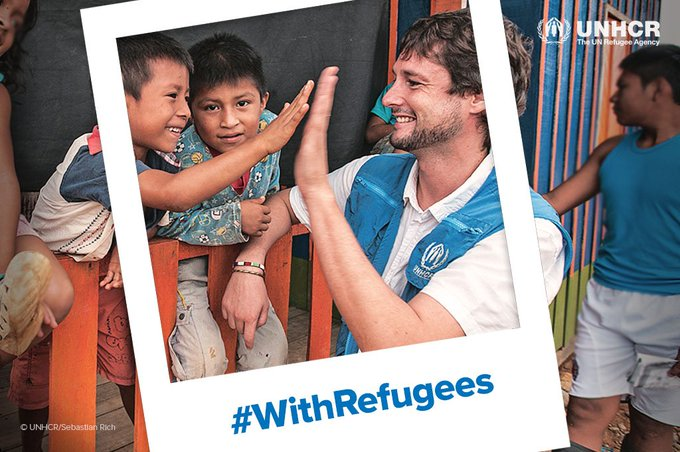 We stand #WithRefugees. On #WorldRefugeeDay please stand with us. Photo