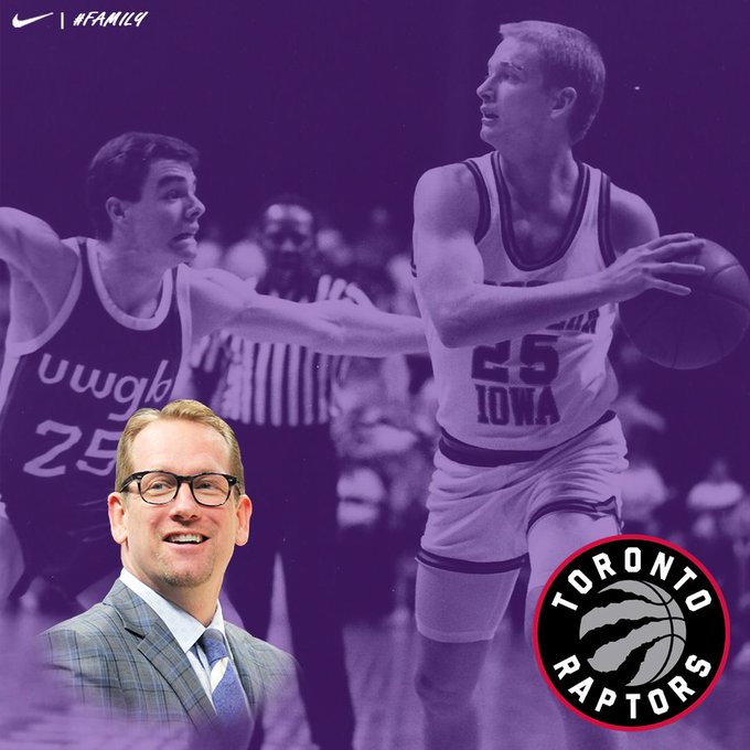 Congratulations to former Panther hooper, Nick Nurse, on being named the head coach of the @Raptors today. A little #TBT to his playing days! #Family Photo