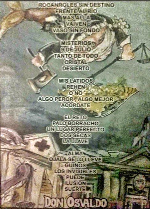 """La lista de temas del regreso de #PatoFontanet a los escenarios con Don Osvaldo. El primero de la serie de diez shows en Córdoba abrió con """"Rocanroles sin destino"""" y terminó con """"Suerte"""". Foto"""
