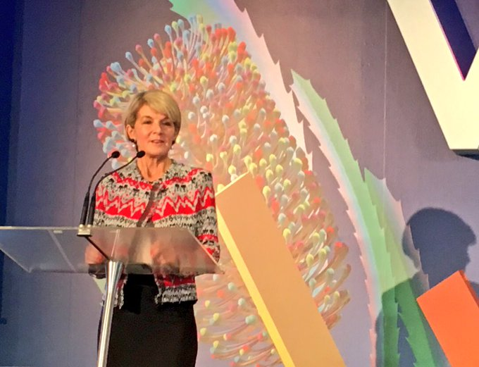 Looking forward to seeing Australia's voluntary national review on Sustainable Development Goals #SDGs, launched today by @JulieBishopMP at #BanksiaIgnite @BanksiaFdn Photo