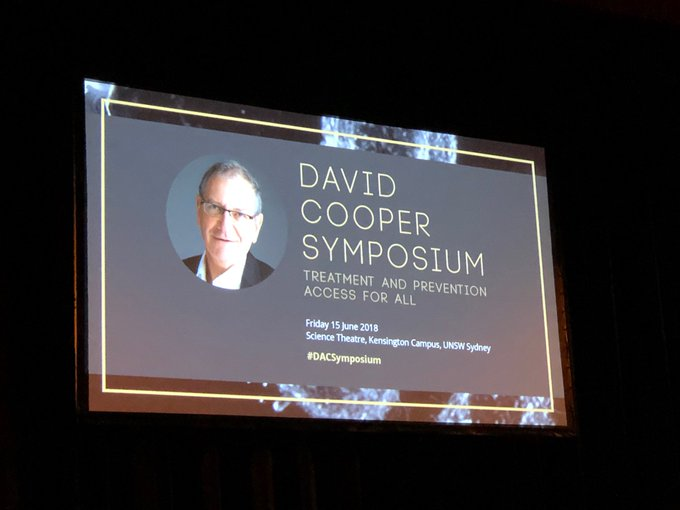 Outstanding line up of national and international speakers #DACSymposium honouring the tremendous legacy of Prof David Cooper in HIV treatment and prevention and access for all @BurnetInstitute Photo