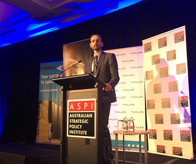 It was a great pleasure to speak at @ASPI_org Building Australia's Space Strategy for Space about the establishment of the Australian Space Agency as the incoming Deputy Head of the Agency #ASPISpace #aspi (Photo credit @ASPI_org) Photo