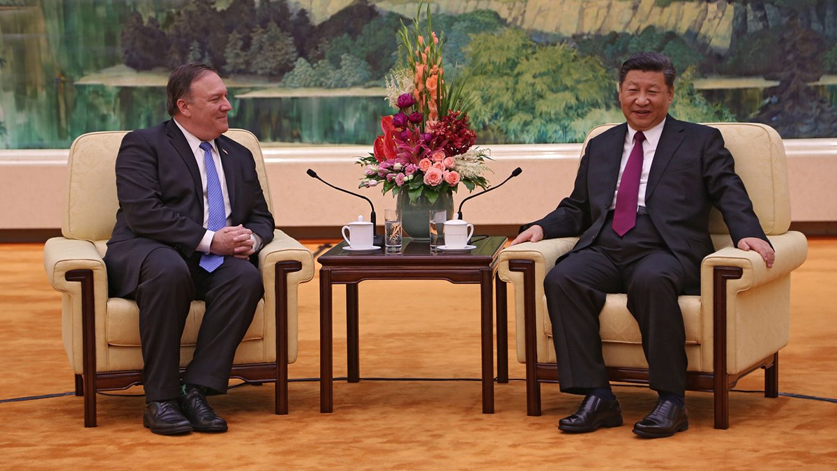 Productive meeting with President Xi, Politburo Member Yang, and Foreign Minister Wang. Talked about #DPRK, trade, South China Sea, and a range of other issues. We are committed to a constructive, results-oriented relationship with #China.