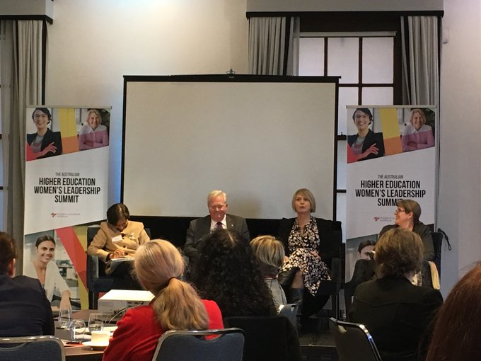 Great panel discussion @WLASocial #higheredwomen - glad to hear @cosmicpinot argue that universities that don't have 50% women in senior leadership positions in next 5 years are CHOOSING this #inequity Photo