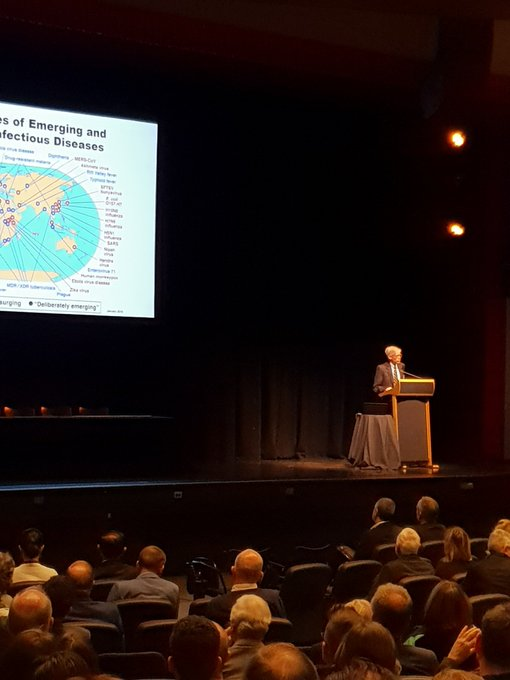 Prof Clifford Lane on global emerging infections and #globalhealth research @KirbyInstitute @UNSW #DACSymposium Photo