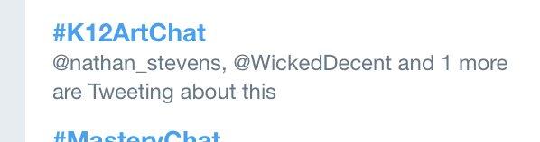 Educators know how to #TrendThePositive! #k12artchat TRENDING on Twitter! YES! @GrundlerArt @Artguy76