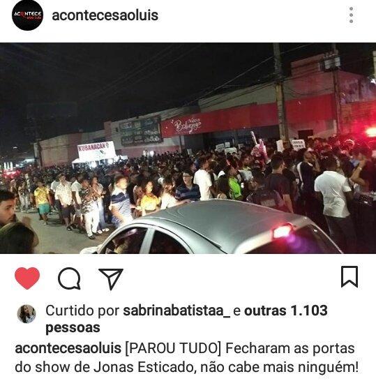Metade de São Luís foi pra esse show de Jonas Esticado ne KKKK Foto