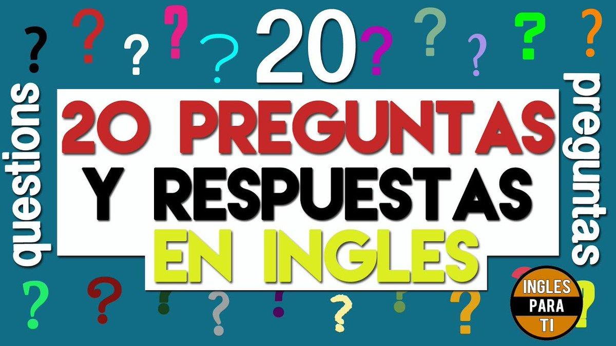 Youtube Mundo On Twitter 20 Preguntas Y Respuestas En Ingles Basico Para Principiantes 20preguntaseningles Aprendeingles Aprenderingles Conversacioneningles Conversacioneseningles Entenderingles Fraseseningles Hablaringles Ingles