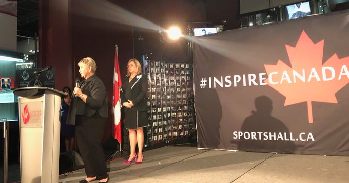 """""""My mom was feisty. Which made me feel like I could do anything."""" -Maureen Baker on her mom, and 2018 CSHOF Inductee Mary Baker #InspireCanada Photo"""