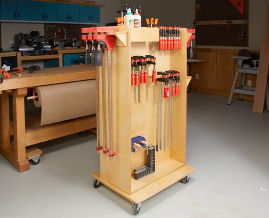 This cart is a great solution to store all of your clamps and be able to move them right where they're needed.  Get the plans for our versatile clamp storage system here:  http:// woodsmithplans.com/plan/clamp-car t-and-storage/  …   #woodworking #diy #clampcart #woodworkingplans #shopstorage <br>http://pic.twitter.com/dJSJ7Jq0UY