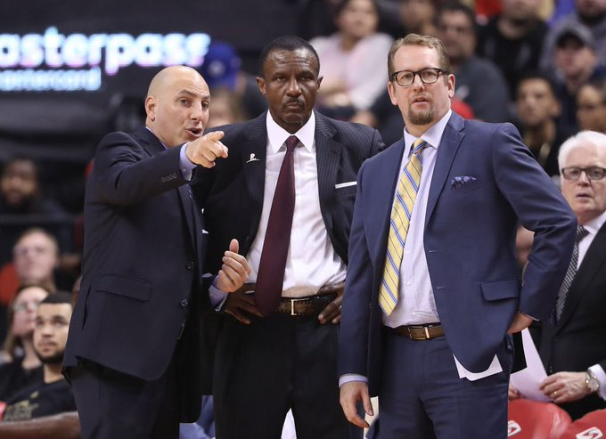 Report: Dwane Casey, Nick Nurse not on good terms after Raptors coaching change. Photo
