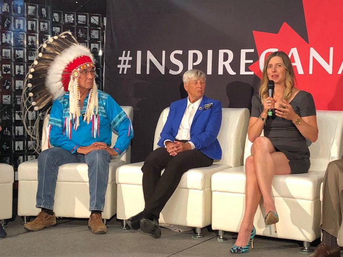 """""""One thing my mom told me is 'you don't have to do this.' That's the thing that compelled me. I love to do it and learning and growing. I want to do this."""" -@ChandraCrawford #InspireCanada Photo"""