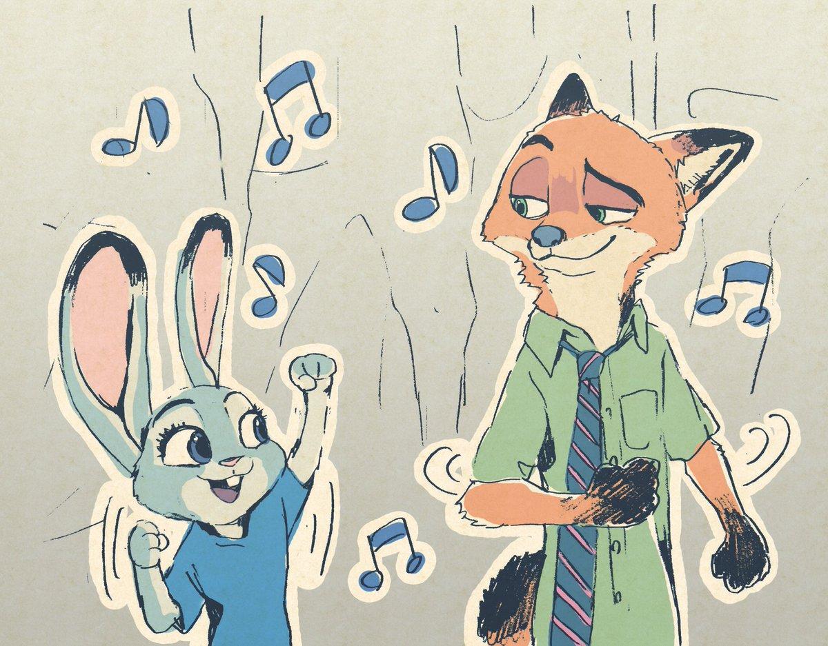 ズートピア地上波初放送おめでとう! ってことで今まで描いたニックとジュディ #ズートピア