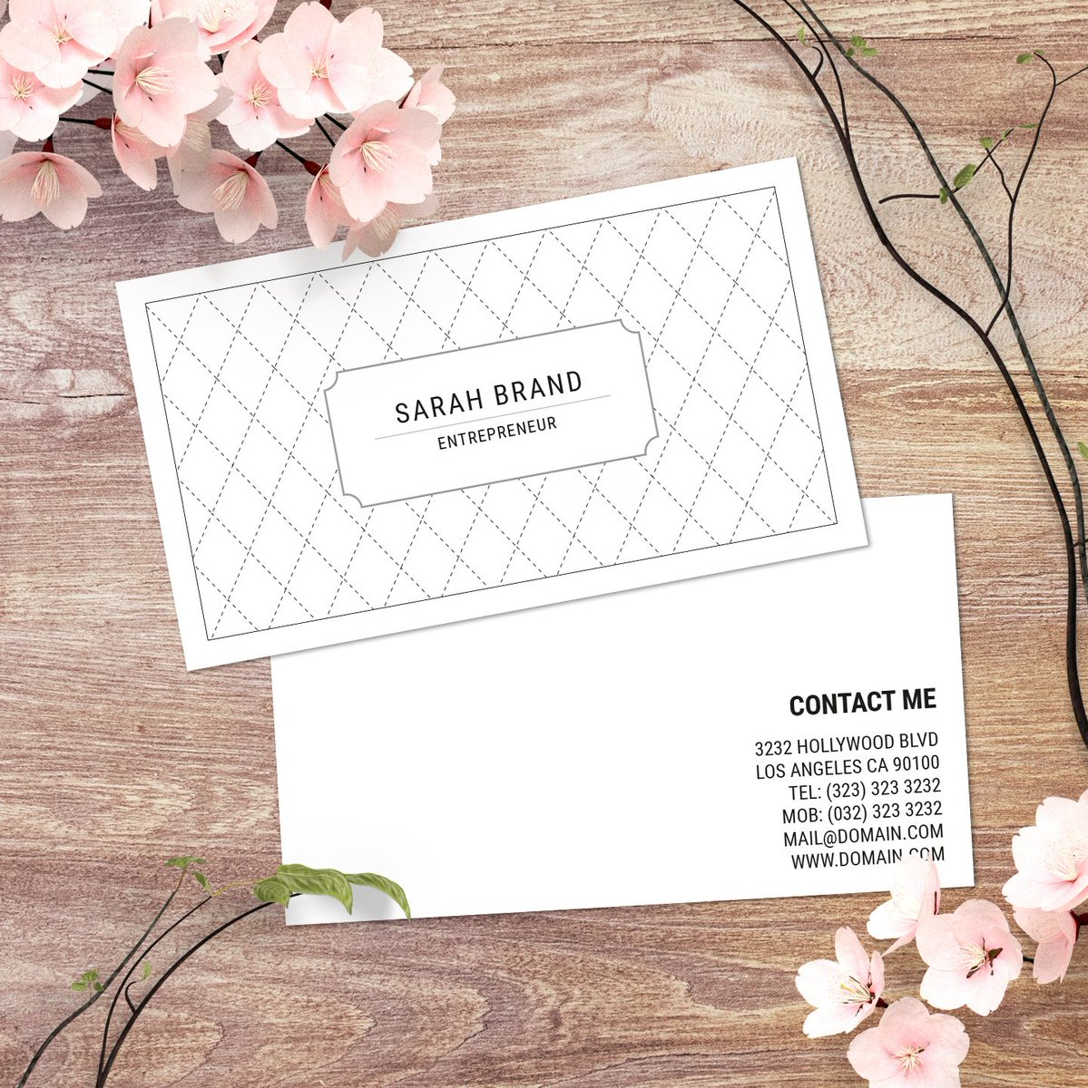 When you love #blackandwhite design you get a timeless black and white #businesscard  to represent yourself or your business. #businesscards #patterns #psdtemplate #templates