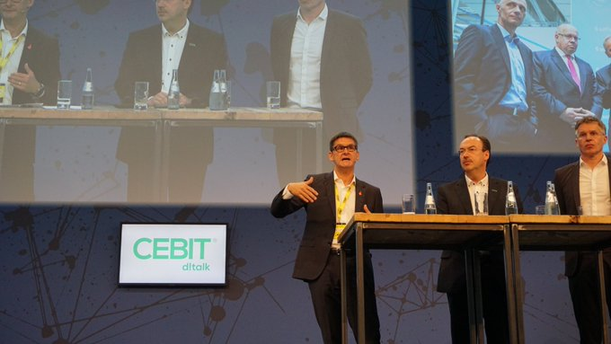 We have reached all our goals: 120,000 #visitors on the trade fair grounds and a business festival with a casual atmosphere. We are very happy, says Oliver Frese (DMAG). #CEBIT18 Foto