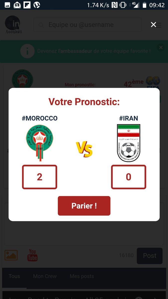 Quel #prono pour #Maroc vs #Iran ? https:// www.insiders.football/teams/morocco#coupedumonde  - FestivalFocus