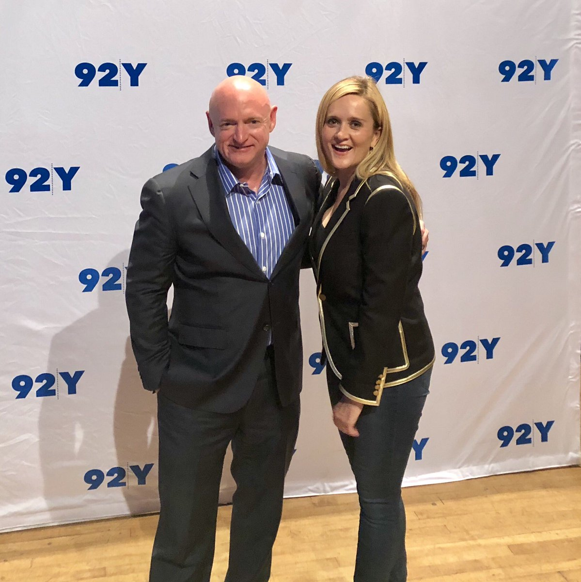 Samantha Bee is the best. We should all thank members of the media, like @iamsambee, who make this country a better place. Thanks @92Y for making the conversation happen.