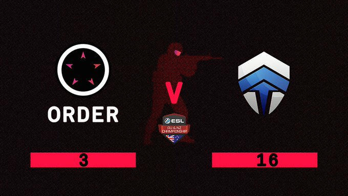 Not the result we were expecting, @ChiefsESC come out phenomenally and take us down (3-16). GGWP! @DarkSided up next. #ESLAUNZ #ORDERUP🏴 Photo