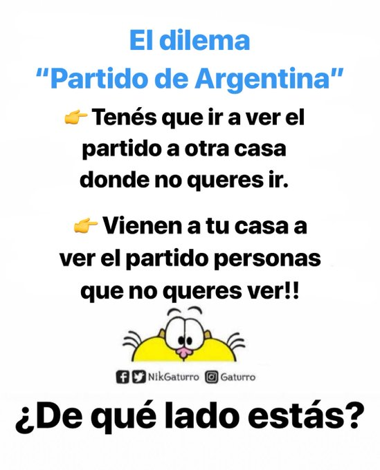 #BuenViernes ¿Cómo es tu plan para ver el partido de Argentina? Photo