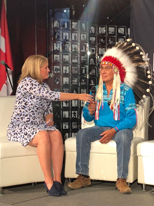 Chief Wilton Littlechild's wisdom is from a beautiful source. #InspireCanada Photo