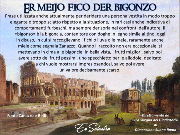 #romanesco #romeisus Quante vòrte avremo detto n vita:- Alò, me pari er meijo fico der bigonzo...- i latini la chiamaveno perculatio, la presa n giro, lanima der còre Romano.