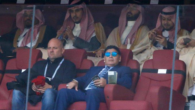 WM 2018: Russische Sicherheitskräfte lassen Diego Maradona nicht zum Eröffnungsspiel Foto