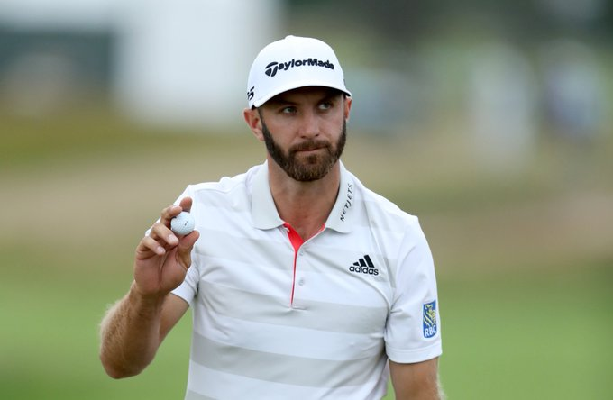 Dustin Johnson leads/co-leads at a Major for the eighth time since 2010. Only Rory McIlroy and Jordan Spieth have led more in that span (13 times each). #USOpen Photo