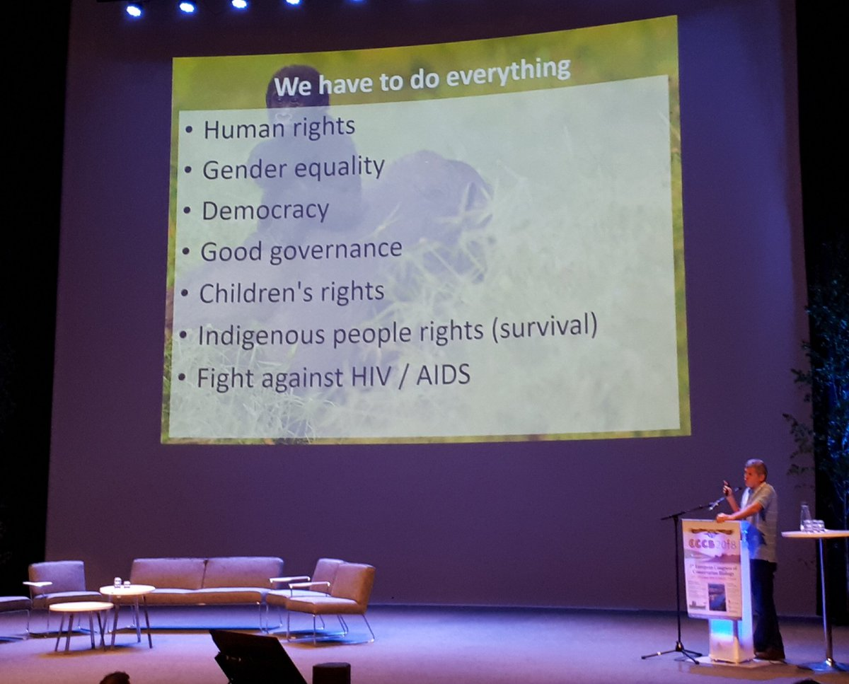 Luis Arranz touches our hearts with the most impressive pictures and stories of nature conservation in Africa - so touching we forget to take photos. I paste one of some of the additional duties of park management. We need action to save the world! #eccb2018 <br>http://pic.twitter.com/bVCeJyCrUk
