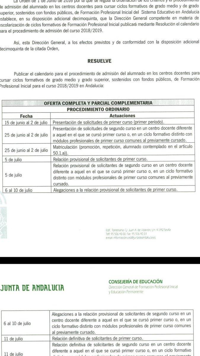 Fp Andaluza On Twitter Calificaciones De Las Pruebas