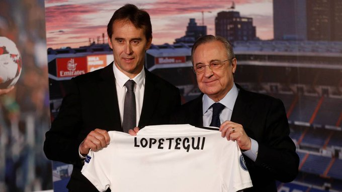 ICYMI | Yesterday was the saddest day of my life; today is the happiest - Lopetegui unveiled by #RealMadrid on Thursday evening Foto