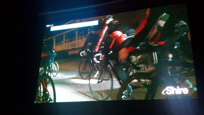 215 cyclistes en peloton attendus vers 3h00 à Mashteuiatsh au terme de la 3è etape #gdpl #1000KM Photo