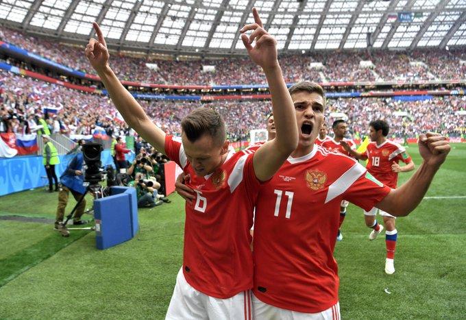 OMEN? #RUS gestriger Sieg war der zweithöchste Sieg in einem Eröffnungsspiel der WM-Geschichte. Nur Italien konnte bei der WM 1934 höher gewinnen: 7:1 gegen die USA. Italien wurde damals Weltmeister. #WM2018 Foto