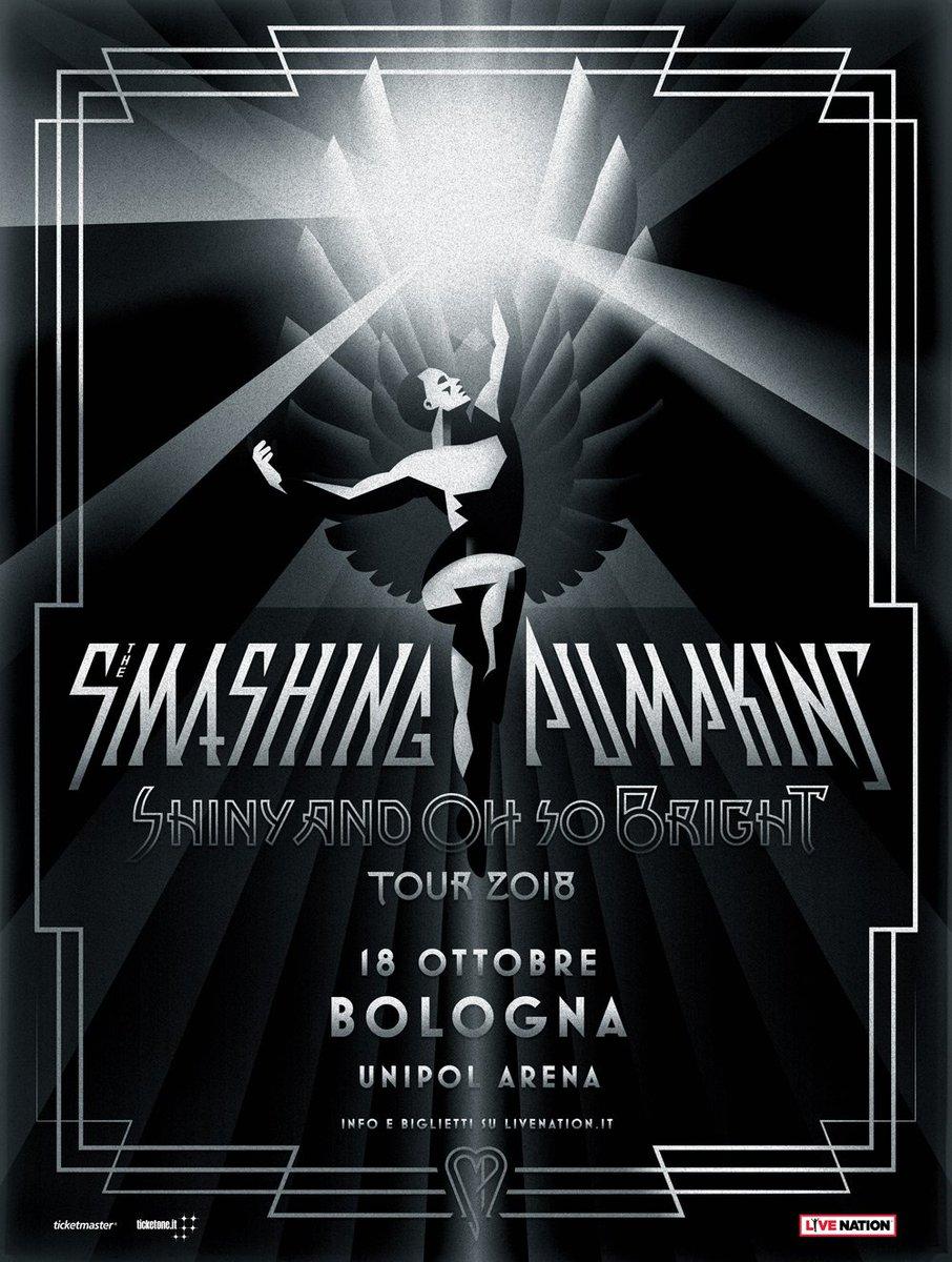** The Smashing Pumpkins tornano in Italia! ✨ ** Dopo oltre 20 anni, i membri fondatori della band tornano in tour sui palchi di tutto il mondo. 18 ottobre · Bologna, Unipol Arena 🎟️ Info e disponibilità biglietti su > bit.ly/SP_018