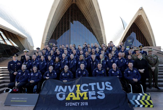 What a fabulous Sydney day and iconic location to announce our Invictus Games 2018 team. I know you will do yourselves, your families and Australia proud at the Sydney Games in October. #GameOnDownUnder #IG2018 Photo