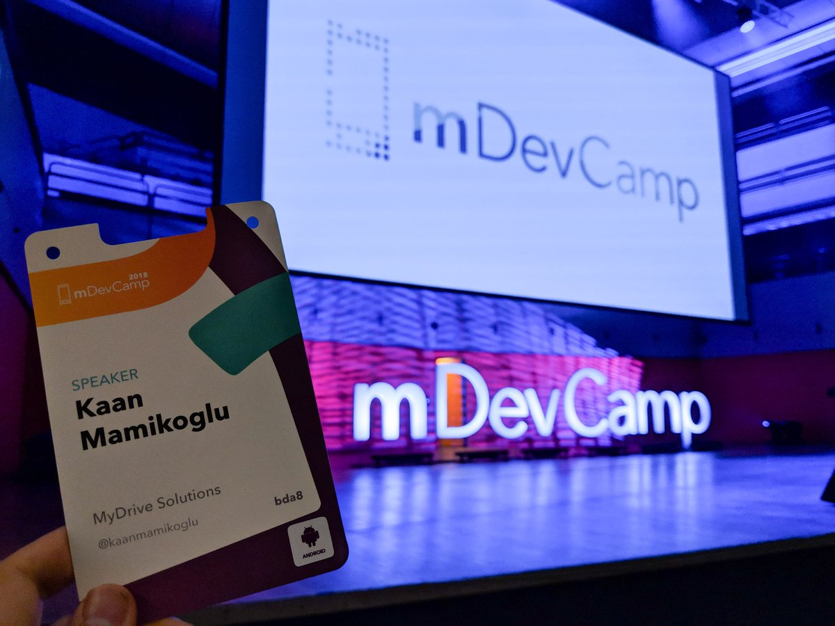 Great start of the day at @mDevCamp (top notch conference) 🎤🎶📱