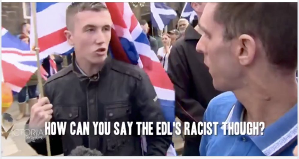 EDL and Britain First arguing who is and isn't racist is best 17 seconds you'll spend today  https://t.co/c8J0k42dyq