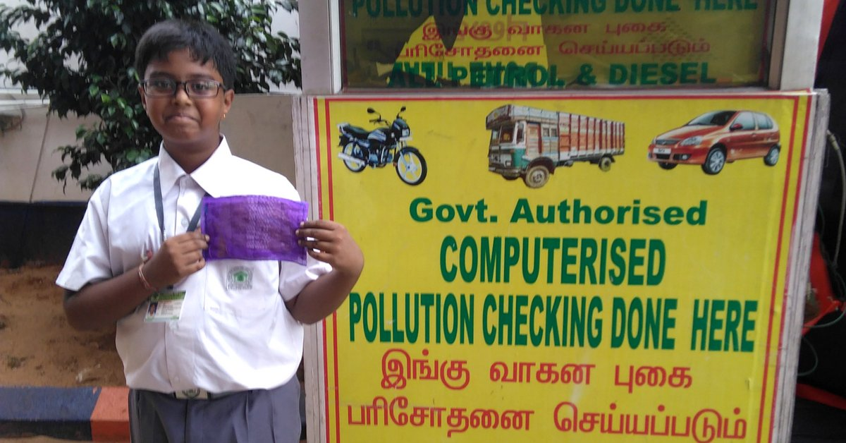 thebetterindia.com/146086/news-ch… Class 6 Chennai Student Uses Native Grass to Make Herbal Anti-Pollution Mask!