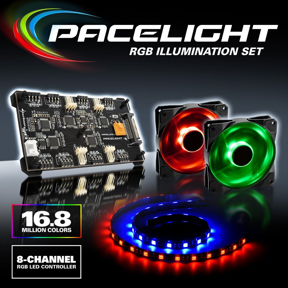 Sharkoon Technologies On Twitter Full Control Of Your Pc Case With Rgb Led Controller Pic12f675 And Eight Components In 168 Million Colors Comes Two Fans Light Strips Price Europe 6990 Pic Lumrzpc98y