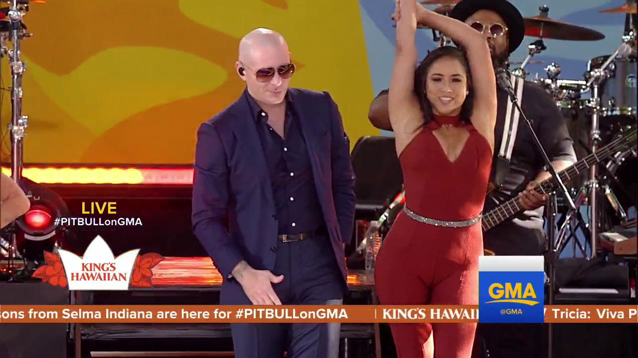 ��Sticks and stones may break my bones! But I don't care what y'all say! ��  #PITBULLonGMA @pitbull https://t.co/1JqV3H6ojQ