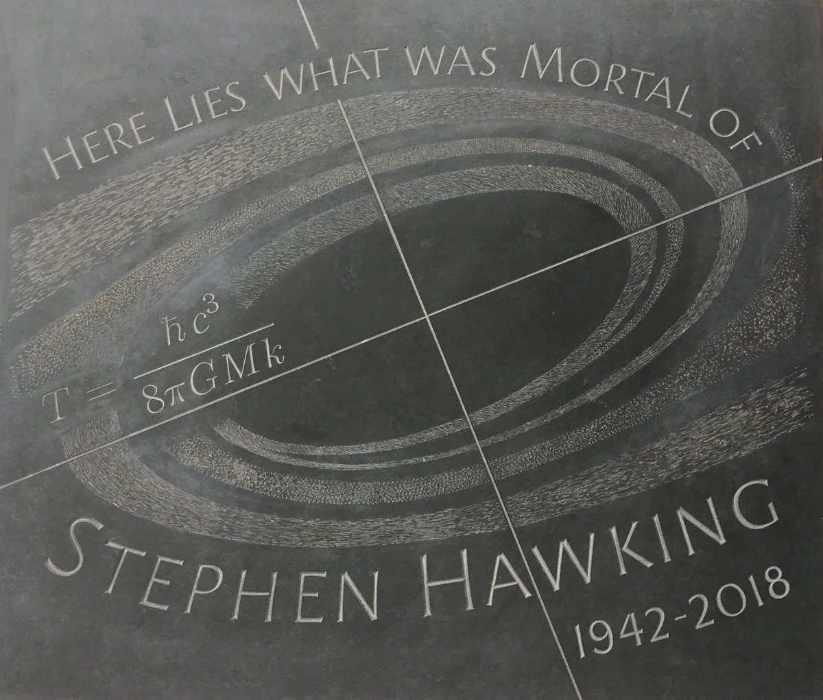 Stephen Hawking's voice beamed into space as his ashes are interred