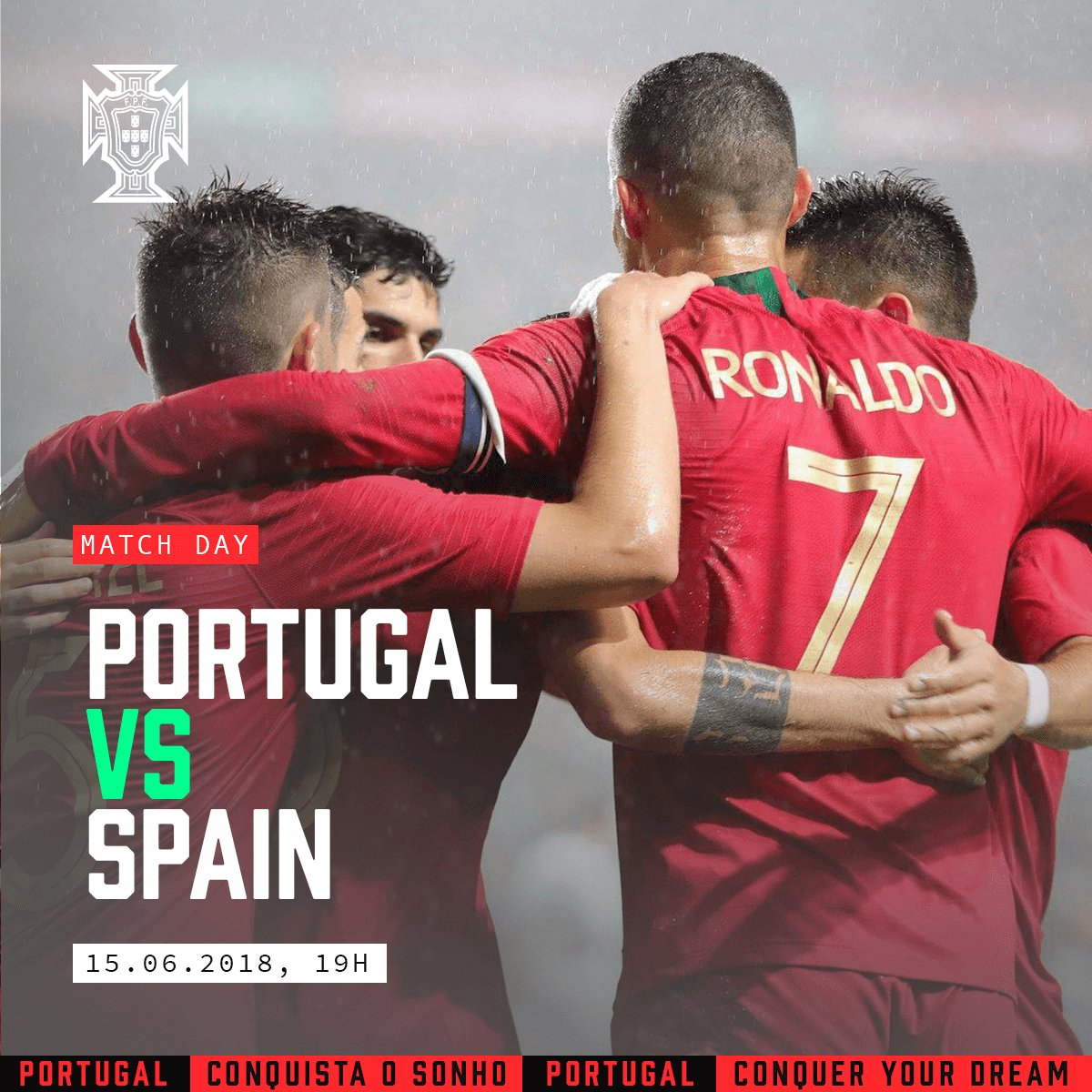 É dia de jogo!! #ConquistaOSonho  ⚽ Portugal x Espanha 🕘 7 PM (Portugal Continental) 🏟️ Fisht Stadium  It's match day! #ConquerYourDream