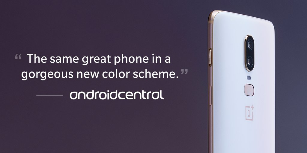 A gorgeous variant crafted using actual pearl dust. @androidcentral couldn&#39;t resist the #OnePlus6 Silk White in their hands-on.  http:// onepl.us/op6sw-achandson  &nbsp;  <br>http://pic.twitter.com/0qUJlKZpE0